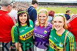 Kerry Fans at Fitzgerald Stadium Katie Guinan, Amy Horgan and Alison O'Connor (Tralee).