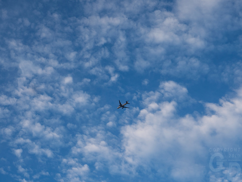 Commercial plane against the sky