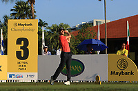 Thomas Detry (BEL) on the 3rd tee during Round 1 of the Maybank Championship at the Saujana Golf and Country Club in Kuala Lumpur on Thursday 1st February 2018.<br /> Picture:  Thos Caffrey / www.golffile.ie<br /> <br /> All photo usage must carry mandatory copyright credit (© Golffile | Thos Caffrey)