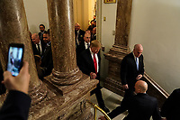 FEBRUARY 5, 2019 - WASHINGTON, DC: President Donald Trump after the State of the Union address at the Capitol in Washington, DC on February 5, 2019. (Doug Mills/The New York Times POOL PHOTO) NYTSOTU / MediaPunchCAP/MPI/RS<br /> ©RS/MPI/Capital Pictures