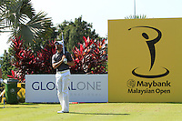 Gregory Bourdy (FRA) on the 4th tee during Round 3 of the Maybank Malaysian Open at the Kuala Lumpur Golf & Country Club on Saturday 7th February 2015.<br /> Picture:  Thos Caffrey / www.golffile.ie