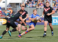 Brad Dwyer sets up an attack for Leeds during London Broncos vs Leeds Rhinos, Betfred Super League Rugby League at Trailfinders Sports Club on 1st September 2019