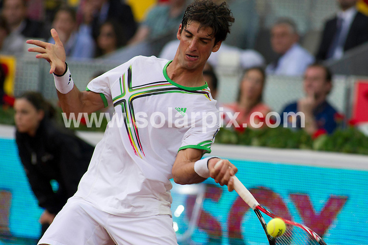 **ALL ROUND PICTURES FROM SOLARPIX.COM**                                             **WORLDWIDE SYNDICATION RIGHTS EXCEPT SPAIN - NO SYNDICATION IN SPAIN**                                                                                  Caption: The Andy Murray vs Thomaz Bellucci game at the Madrid Open, Madrid, Spain. 5 May 2011                                                                              This pic: Thomaz Bellucci                                                                                       JOB REF: 13277 DMS Drake      DATE: 05_05_2011                                                           **MUST CREDIT SOLARPIX.COM OR DOUBLE FEE WILL BE CHARGED**                                                                      **MUST AGREE FEE BEFORE ONLINE USAGE**                               **CALL US ON: +34 952 811 768 or LOW RATE FROM UK 0844 617 7637**