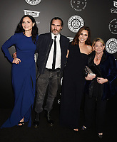 SANTA MONICA, CA - JANUARY 06: (L-R) Actors Rain Phoenix, Joaquin Phoenix and Summer Phoenix arrive at the The Art Of Elysium's 11th Annual Celebration - Heaven at Barker Hangar on January 6, 2018 in Santa Monica, California.<br /> CAP/ROT/TM<br /> &copy;TM/ROT/Capital Pictures