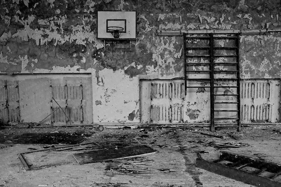 An abandoned school in the city of Prypiat.
