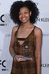 Graduating student Bria Hendrickson, won the Chris Gelinas Critic Award, during the Future of Fashion 2017 runway show at the Fashion Institute of Technology on May 8, 2017.
