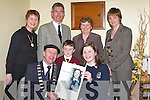 HONOURED: Eimear Jones, Presentation School, Tralee, was honoured at a civic reception at the Kerry County \buildings by Mayor of Kerry Michael Healy-Rae. Also pictured are Maire, John and Robert Jones, Sr Brid Clifford (principal) and Kay O'Mahony (teacher).   Copyright Kerry's Eye 2008
