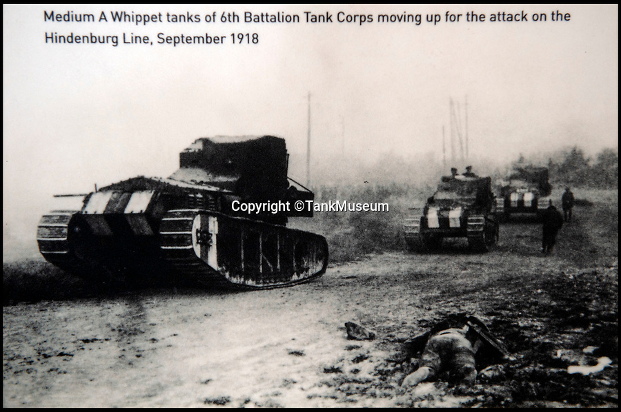 BNPS.co.uk (01202 558833)<br /> Pic: TankMuseum/BNPS<br /> <br /> Whippet tank's in action towards the end of the war.<br /> <br /> Moving and miraculous survivor from 100 years ago - fragile timepiece reveals a remarkable story of courage, death and unlikely friendship from the Western Front.<br /> <br /> An unlikely friendship between a British World War One tank commander and the German foe who saved his life has come to light 100 years after they first met on the battlefield.<br /> <br /> Lieutenant Clement Arnold, of the Tank Corps, had been in charge of a Whippet tank which ploughed through the German defences and wreaked havoc on their trenches at the Battle of Amiens on the 8/8/1918, before recieving a direct hit and catching fire, forcing the three man crew to bail out.<br /> <br /> The enraged German soldiers bayoneted to death the tank driver, Private W J Carnie, but before Lt Arnold suffered the same fate, German officer Ritter Ernst von Maravic stepped in and ordered that he and the tank's gunner were taken prisoner instead.<br /> <br /> As a gesture of gratitude, Lt Arnold gave von Maravic the prized  wristwatch given to him by his father, his most valuable possession.<br /> <br /> Amazingly the two foes then made contact and became friends in the 1930's when von Maravic returned the watch to Clement Arnold and even holidayed in Llandudno with the Arnold family. <br /> <br /> Yesterday Lt Arnold's nephew Jolyon(83) visited the Tank Museum museum in Dorset to retell the astonishing story.