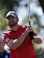 J.B. Holmes (Team USA) on the 2nd tee during the Friday afternoon Fourball at the Ryder Cup, Hazeltine national Golf Club, Chaska, Minnesota, USA.  30/09/2016<br /> Picture: Golffile | Fran Caffrey<br /> <br /> <br /> All photo usage must carry mandatory copyright credit (&copy; Golffile | Fran Caffrey)
