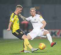 Burton Albion's David Templeton in action with Coventry City's Jack Grimmer <br /> <br /> Photographer Mick Walker/CameraSport<br /> <br /> The EFL Sky Bet League One - Burton Albion v Coventry City - Saturday 17th November 2018 - Pirelli Stadium - Burton upon Trent<br /> <br /> World Copyright &copy; 2018 CameraSport. All rights reserved. 43 Linden Ave. Countesthorpe. Leicester. England. LE8 5PG - Tel: +44 (0) 116 277 4147 - admin@camerasport.com - www.camerasport.com