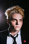 Photos of singer Gerard Way taken in a Hollywood studio in Los Angeles, California July 17, 2014.