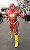 London Super Comic Con<br /> at Design Centre Islington, London, Great Britain <br /> 25th August 2017 <br /> <br /> General views <br /> and delegates in cos play costumes <br /> <br /> The Flash <br /> DC Comics <br /> <br /> London Super Comic Con plays host to the latest comics, comic related memorabilia, superheroes and graphic novels fans have a chance to interact with their favourite creators, and  exhibitors showcasing items from comics to Cosplay, original art to toys.<br /> <br /> <br /> <br /> <br /> <br /> <br /> Photograph by Elliott Franks <br /> Image licensed to Elliott Franks Photography Services