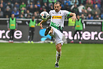 06.10.2019, Borussia-Park - Stadion, Moenchengladbach, GER, DFL, 1. BL, Borussia Moenchengladbach vs. FC Augsburg, DFL regulations prohibit any use of photographs as image sequences and/or quasi-video<br /> <br /> im Bild Tony Jantschke (#24, Borussia Moenchengladbach) Aktion . Einzelbild . Freisteller . mit Ball <br /> <br /> Foto © nordphoto/Mauelshagen