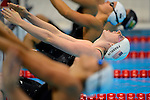 LONDON, ENGLAND - AUGUST 2:  Missy Franklin of the USA swims in the Men's 200M Backstroke Heats during the Swimming Prelims, Day 7 of the London 2012 Olympic Games on August 2, 2012 in London, England. (Photo by Donald Miralle)