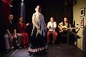 """Edinburgh, UK. 02.08.2016. Alba Flamenca presents the self-titled show, """"Alba Flamenca"""", as part of the Edinburgh Festival Fringe.  Picture shows: Maria del Mar Suarez (front), (l to r) Pedro Morote, Gabriela Pouso, Danielo Olivera, Daniel Martinez. Photograph © Jane Hobson."""