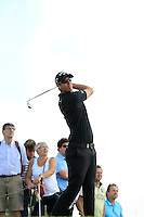 Nicolas Colsaerts (BEL) on the 9th tee during Round 2 of the KLM Open at Kennemer Golf &amp; Country Club on Friday 12th September 2014.<br /> Picture:  Thos Caffrey / www.golffile.ie