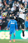 Jose Luis Gaya Pena of Valencia CF in action during the La Liga 2017-18 match between Getafe CF and Valencia CF at Coliseum Alfonso Perez on December 3 2017 in Getafe, Spain. Photo by Diego Gonzalez / Power Sport Images