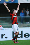 Riccardo Montolivo in action during the Serie A football match Chievo Verona vs AC Milan at Verona, on November 10, 2013.