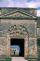 Europe/France/Aquitaine/33/Gironde/Lamarque: Détail du portail du chateau Cap de Haut