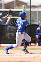 Salvador Perez, Kansas City Royals 2010 minor league spring training..Photo by:  Bill Mitchell/Four Seam Images.