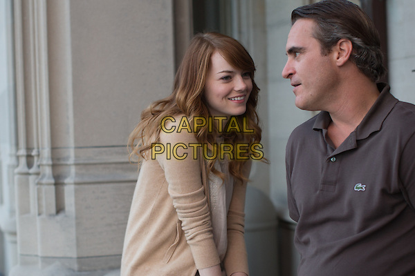 Emma Stone &amp; Joaquin Phoenix in Irrational Man (2015), a Warner Bros. Pictures release.<br /> *Filmstill - Editorial Use Only*<br /> CAP/NFS<br /> Image supplied by Capital Pictures