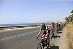 The peloton including Italian National Champion Elia Viviani (ITA) Quick-Step Floors in full flight after the start of Stage 4 of the La Vuelta 2018, running 162km from Velez-Malaga to Alfacar, Sierra de la Alfaguara, Andalucia, Spain. 28th August 2018.<br /> Picture: Eoin Clarke   Cyclefile<br /> <br /> <br /> All photos usage must carry mandatory copyright credit (&copy; Cyclefile   Eoin Clarke)