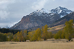 Idaho, South central, Sun Valley. The boulder mountains in autumn.