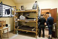 Roma, carcere di Regina Coeli. Una cella della quarta sezione.
