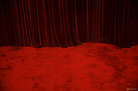 A heavy curtain falls over a red carpet inside the Great Hall of the People where sessions of the National People's Congress (NPC) and the Chinese People's Political Consultative Conference (CPPCC) are taking place, in Beijing, China March 2, 2016.   REUTERS/Damir Sagolj