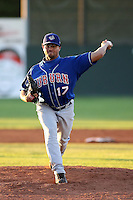 August 28th, 2007:  Luis Perez of the Auburn Doubledays, Class-A affiliate of the Toronto Blue Jays at Dwyer Stadium in Batavia, NY.  Photo by:  Mike Janes/Four Seam Images