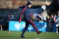 Arsenal manager Joe Montemurro juggles the ball ahead of Arsenal Women vs Bristol City Women, Barclays FA Women's Super League Football at Meadow Park on 1st December 2019