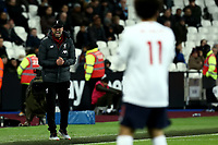 29th January 2020; London Stadium, London, England; English Premier League Football, West Ham United versus Liverpool; Liverpool Manager Jurgen Klopp shouts at Mohamed Salah