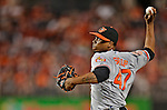 19 May 2012: Baltimore Orioles pitcher Pedro Strop on the mound against the Washington Nationals at Nationals Park in Washington, DC. The Orioles defeated the Nationals 6-5 in the second game of their 3-game series. Mandatory Credit: Ed Wolfstein Photo