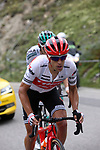 Richie Porte (AUS) Trek-Segafredo climbs the Col d'Iseran during Stage 19 of the 2019 Tour de France originally running 126.5km from Saint-Jean-de-Maurienne to Tignes but cut short to 88.5 km, France. 26th July 2019.<br /> Picture: John Pierce/PhotoSport Int | Cyclefile<br /> All photos usage must carry mandatory copyright credit (© Cyclefile | John Pierce/PhotoSport Int)