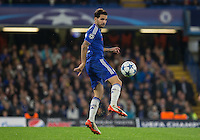 Cesc Fabregas of Chelsea controls the ball during the UEFA Champions League match between Chelsea and Maccabi Tel Aviv at Stamford Bridge, London, England on 16 September 2015. Photo by Andy Rowland.