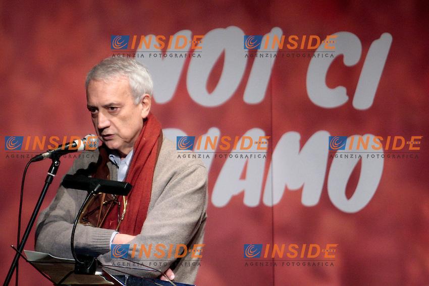 Paolo Flores D'Arcais.Roma 01/12/2012 Teatro Vittoria. Prima assemblea nazionale della campagna 'Cambiare si puo', noi ci siamo!', un movimento di associazioni, comunemente chiamato 'arancioni'..Photo Samantha Zucchi Insidefoto