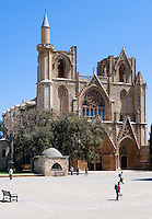 CYPRUS, North cyprus (turkish), Ammochostos/Famagusta (Gazimagusa): Lala Mustafa Pasa-Mosque - originally Santa Claus Cathedral<br />