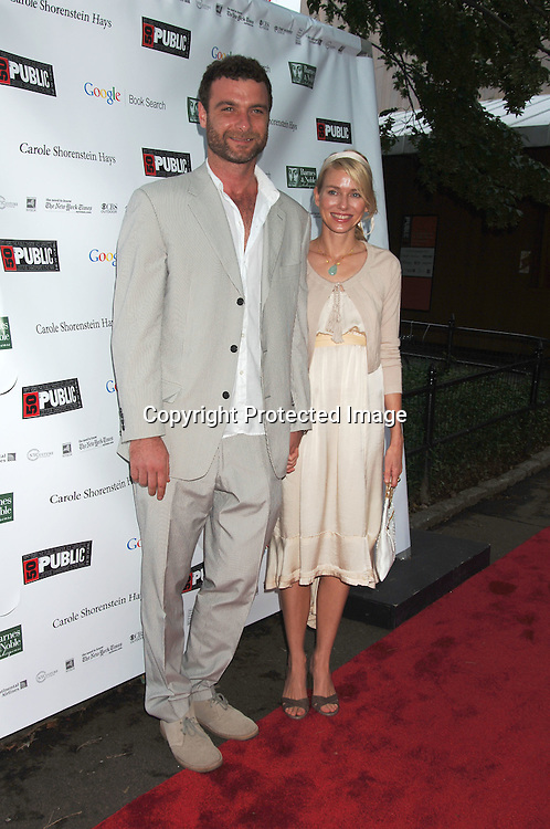 Liev Schreiber and Naomi Watts..arriving at The Public Theatre's Summer Gala honoring Kevin Kline and Meryl Streep at The Opening NIght of MacBeth for Shakespeare in the Park on ..June 28, 2006. ..Robin Platzer, Twin Images