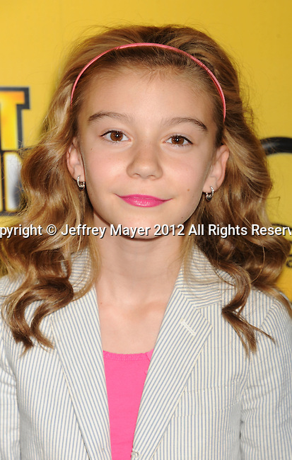 LOS ANGELES, CA - JUNE 05: G. Hannelius attends Disney's 'Let It Shine' Premiere held at The Directors Guild Of America on June 5, 2012 in Los Angeles, California.