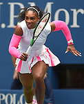 Serena Williams (USA) wins  at the US Open being played on September  3, 2016 at Billy Jean King National Tennis Center in Flushing, Queens, New York.  ©Leslie Billman/EQ