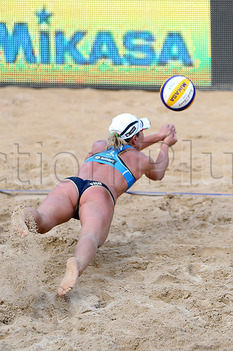 14.06.2011 Day two of the Beach Volleyball World Championships from Rome. Match May-Treanor-Walsh (USA) - Giombini-Rosso (ITA)