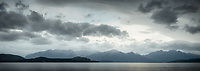 Mood of Lake Manapouri with Kepler mountains in background, Fiordland National Park, UNESCO World Heritage Area, Southland, New Zealand, NZ