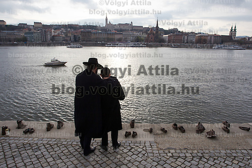 Participants of the Rabbinical Centre of Europe conference attend a remembrance on the 70th anniversary of the Holocaust in Budapest, Hungary on March 24, 2014. ATTILA VOLGYI