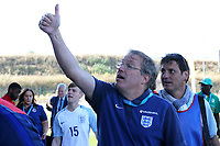 England U18 Head Coach, Neil Dewsnip, shows his delight at the final whistle during England Under-18 vs Scotland Under-20, Toulon Tournament Semi-Final Football at Stade Parsemain on 8th June 2017