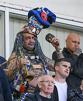 Portsmouth fan John Anthony Portsmouth Football Club Westwood sings with other fans during the first half<br /> <br /> Photographer Alex Dodd/CameraSport<br /> <br /> The EFL Sky Bet League One - Blackpool v Portsmouth - Saturday 11th November 2017 - Bloomfield Road - Blackpool<br /> <br /> World Copyright &copy; 2017 CameraSport. All rights reserved. 43 Linden Ave. Countesthorpe. Leicester. England. LE8 5PG - Tel: +44 (0) 116 277 4147 - admin@camerasport.com - www.camerasport.com
