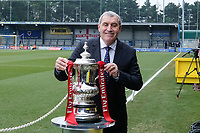 Peter Shilton with the FA Cup ahead of AFC Wimbledon vs Millwall, Emirates FA Cup Football at the Cherry Red Records Stadium on 16th February 2019