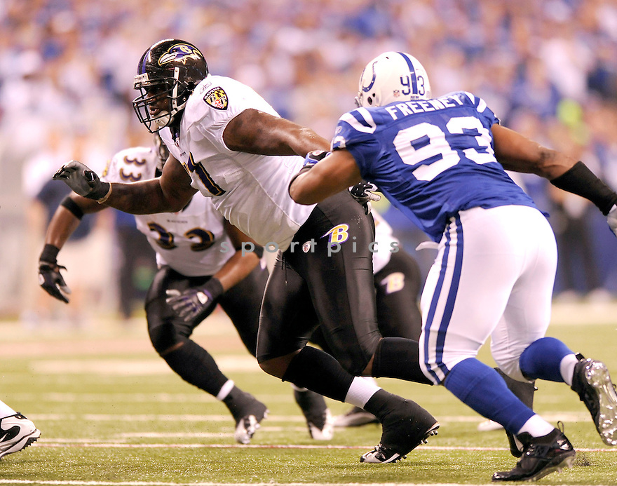 JARED GAITHER, of the Baltimore Ravens, in action during the Ravens game against the Indianapolis Colts on January 16, 2010 in Indianapolis, Indiana. The Colts won 20-3..