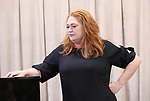 Katie Thompson during the rehearsal for 'And The World Goes 'Round' - The Abingdon Theatre Company's 25th Anniversary Gala at the Pearl Studios on October 16, 2017 in New York City.