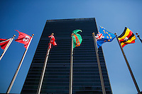 NEW YORK, USA - SEPT 14, General View of the United Nations Headquarters during preparations for the 71st General Assembly in New York on September 14, 2016. photo by VIEWpress