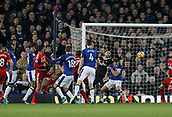 5th November 2017, Goodison Park, Liverpool, England; EPL Premier League Football, Everton versus Watford; Dominic Calvert-Lewin of Everton scores his side's second goal after 74 minutes